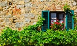 Italian Window Royalty Free Stock Photography