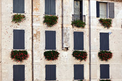 Italian window pattern Royalty Free Stock Photo