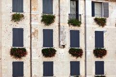 Italian window pattern Royalty Free Stock Photo