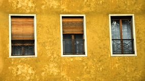 Italian Windows. Three window in various stages of openess in Northern Italy Royalty Free Stock Photos
