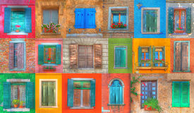 Italian windows in hdr Stock Photography