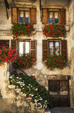Italian windows Stock Photos