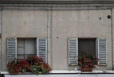 Italian windows in Urbino stock images