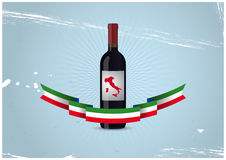 Italian wine bottle Royalty Free Stock Photos