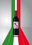 Italian wine bottle Stock Photo