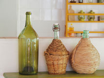 Italian wine bottles Stock Image