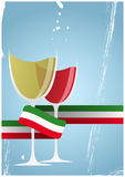 Italian wine glass Royalty Free Stock Photography