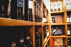 Italian Wine Store stock photography