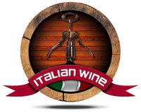Italian Wine - Wooden Icon Stock Photography