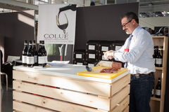 Italian winemaker at Golosaria 2013 in Milan, Italy Stock Image