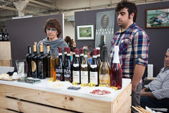 Italian winemakers at Golosaria 2013 in Milan, Italy Stock Images