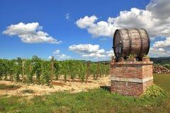 Italian winery. Castiglione Falletto, Italy. Stock Image