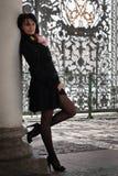 Italian woman based on a column Royalty Free Stock Photo
