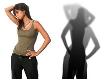 Italian Woman Model Shadows Royalty Free Stock Photo