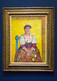 Italian woman by Vincent van Gogh. This oil on canvas of an Italian woman by Vincent van Gogh is exhibited at the Musee d`Orsay in Paris, France. The model for royalty free stock photography