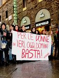 Italian women against Prime Minister Berlusconi Stock Photo