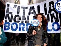 Italian women against Prime Minister Berlusconi Stock Image