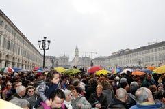 Italian women rally Stock Photos