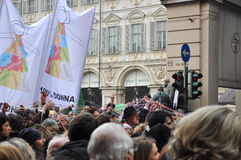 Italian women rally Stock Photography