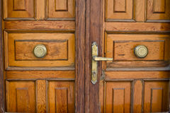 Italian wooden door Stock Photography