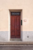 Italian wooden door Stock Image
