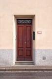 Italian wooden door stock image