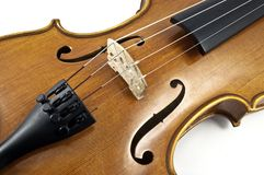 Italian wooden Violin Chord details Stock Photos
