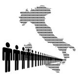 Italian workforce with map Royalty Free Stock Photo