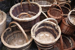 Italian woven baskets craft Royalty Free Stock Photography