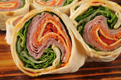 Italian wrap sandwich closeup Stock Photography
