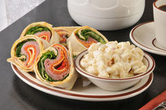 Italian wrap sandwich Royalty Free Stock Photography