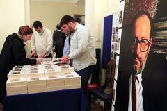 Italian writer Umberto Eco in Istanbul,Turkey Stock Photography