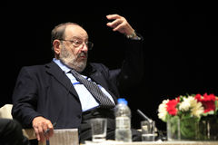 Italian writer Umberto Eco in Istanbul,Turkey Royalty Free Stock Image