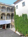 Italian yard in Lviv, Ukraine stock image