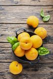 Italian Yellow Peaches Percoca Stock Image