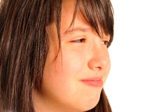 Italian young model sad girl crying Royalty Free Stock Images