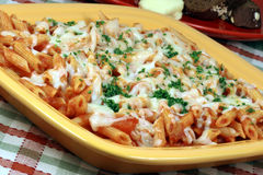Italian ziti style pasta Royalty Free Stock Photos