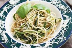 Italian Zucchini Pasta Royalty Free Stock Image