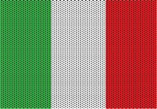 Italiana Textura hecha punto de Ла bandera Стоковое Изображение