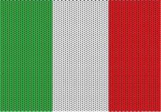 Italiana Textura Hecha Punto de la Bandera Stockbild