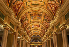 Italianate ceiling, the Venetian, Las Vegas Stock Photo