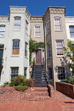 Italianate Row House Home Capitol Hill Washington Stock Photo
