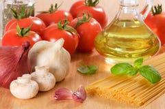 italiano еды Стоковое Изображение