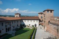 Italiano de Castelvecchio: ` Velho Verona do castelo do `, Itália fotos de stock royalty free