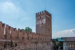 Italiano de Castelvecchio: ` Velho Verona do castelo do `, Itália fotografia de stock royalty free