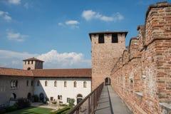 Italiano de Castelvecchio: ` Velho Verona do castelo do `, Itália foto de stock royalty free
