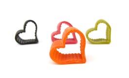 Italiano de las pastas en forma de corazón imagen de archivo libre de regalías
