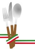 Italiano de los cubiertos Foto de archivo