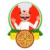 Italiano del cocinero ilustración del vector