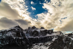 Italiano Dolomiti pronto per la stagione dello sci Immagini Stock